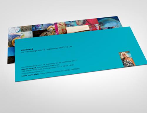 Serie von Einladungskarten