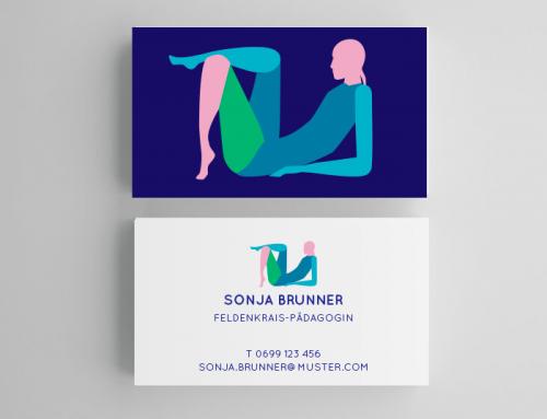 Logo und Visitenkartenentwurf für eine Feldenkrais-Pädagogin