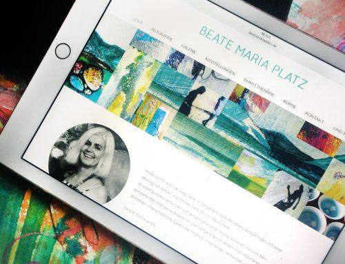 Mehr Platz für alle Werke: Website für eine Künstlerin