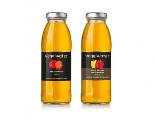 Icons und Etikettengestaltung für veggiwater